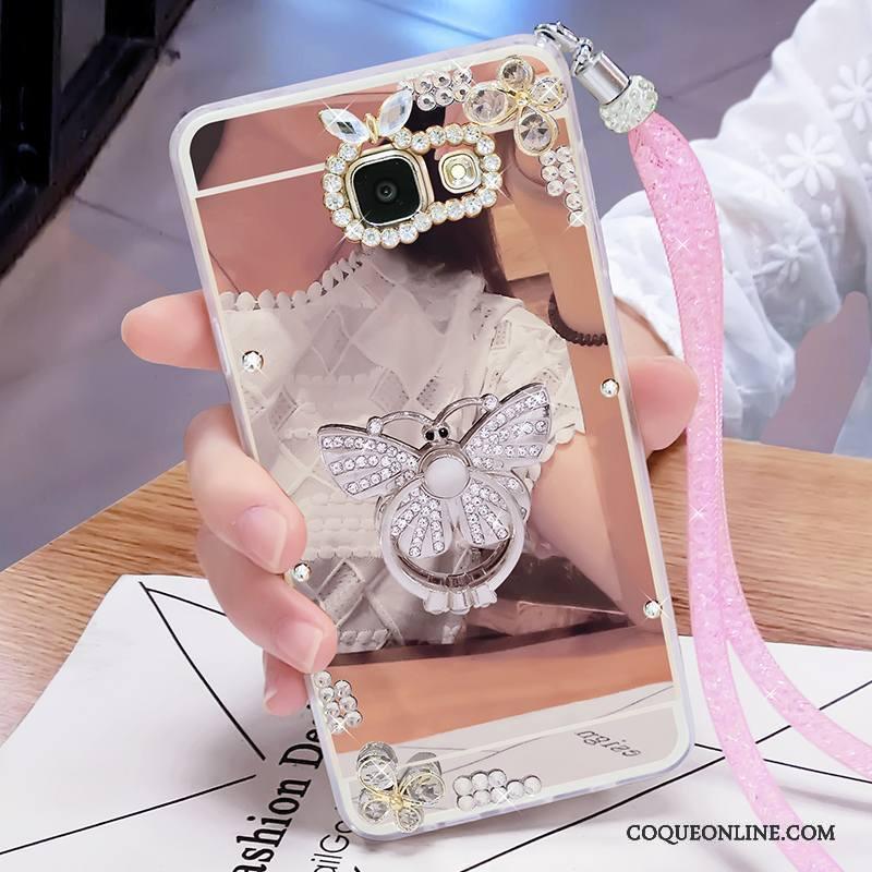 Samsung Galaxy A7 2016 Étoile Tout Compris Personnalité Créatif Strass Coque De Téléphone Or