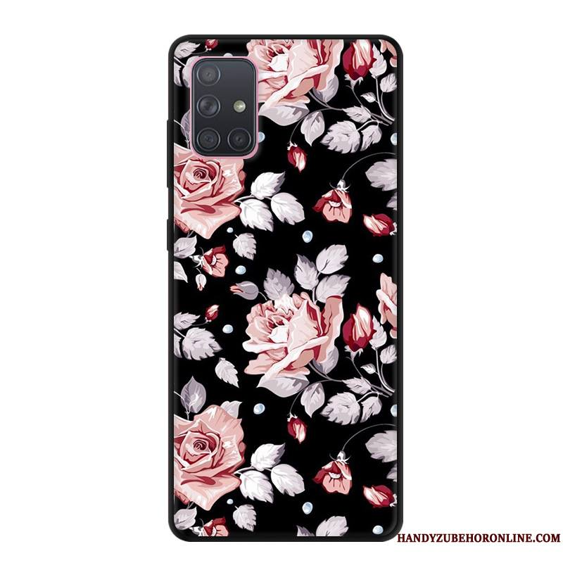 Samsung Galaxy A71 Coque Protection Étui Gris Dessin Animé Créatif Tout Compris Étoile