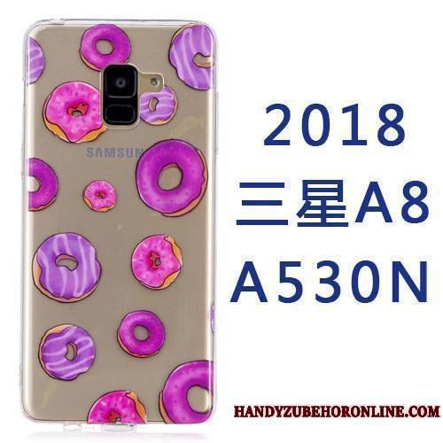 Samsung Galaxy A8 2018 Coque Tout Compris Silicone Étoile Ornements Suspendus Dessin Animé Créatif Étui