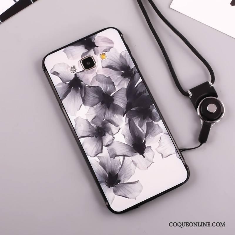 Samsung Galaxy A8 Protection Étoile Ornements Suspendus Coque De Téléphone Incassable Étui Noir