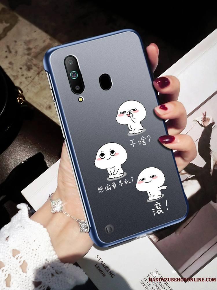 Samsung Galaxy A8s Coque Border Silicone Créatif Mode Noir Frais Protection
