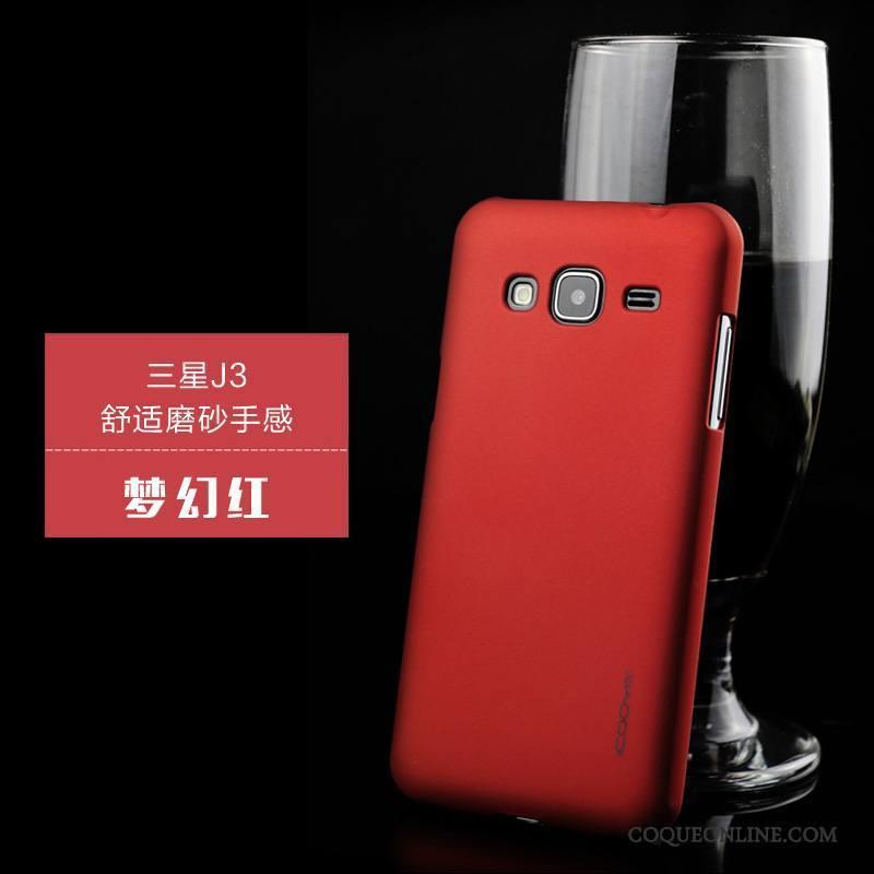 Samsung Galaxy J3 2016 Téléphone Portable Protection Étui Incassable Violet Coque De Téléphone Étoile