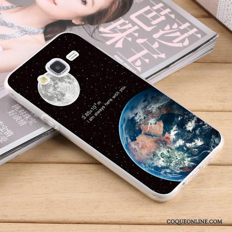 Samsung Galaxy J5 2015 Coque De Téléphone Fluide Doux Délavé En Daim Silicone Étoile Jaune