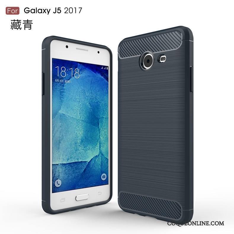 Samsung Galaxy J5 2017 Soie Noir Étoile Fluide Doux Coque Téléphone Portable Étui