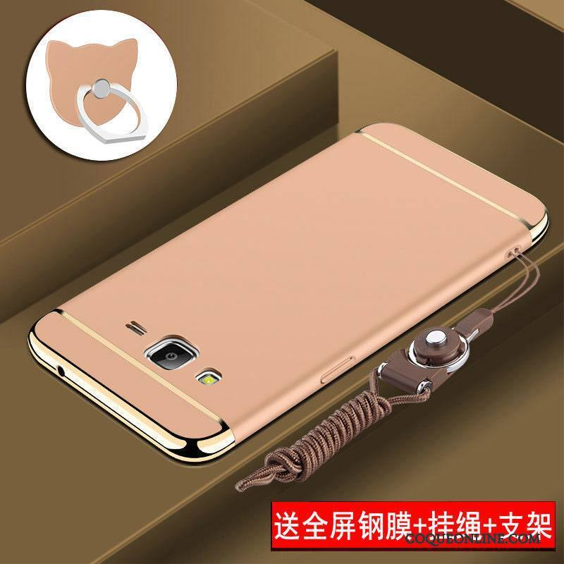Samsung Galaxy J7 2015 Protection Tout Compris Coque De Téléphone Or Rose Difficile Incassable Étui