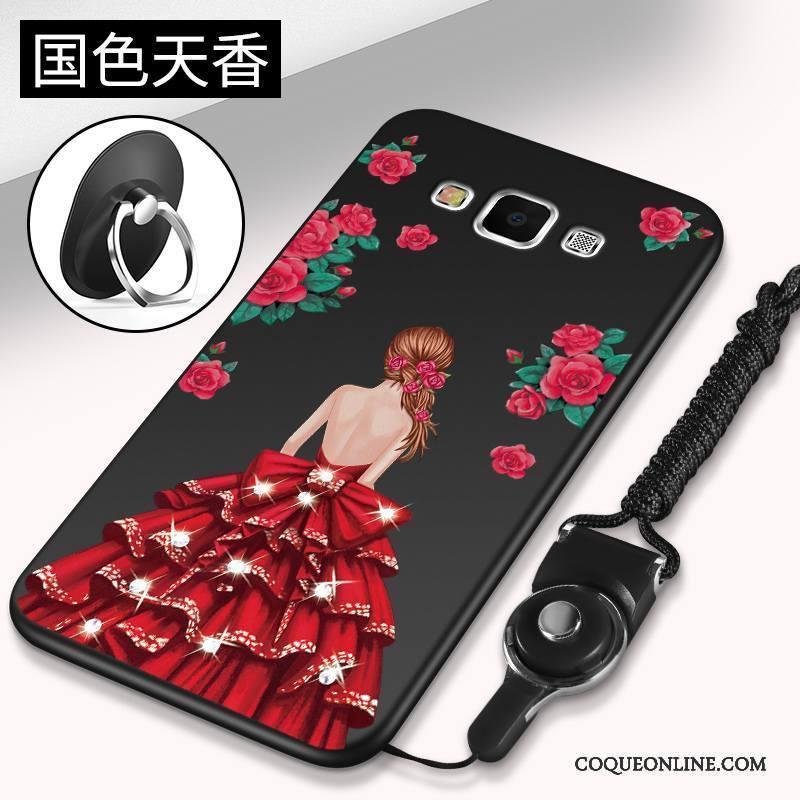 Samsung Galaxy J7 2016 Tendance Étoile Étui Téléphone Portable Coque De Téléphone Rouge Silicone