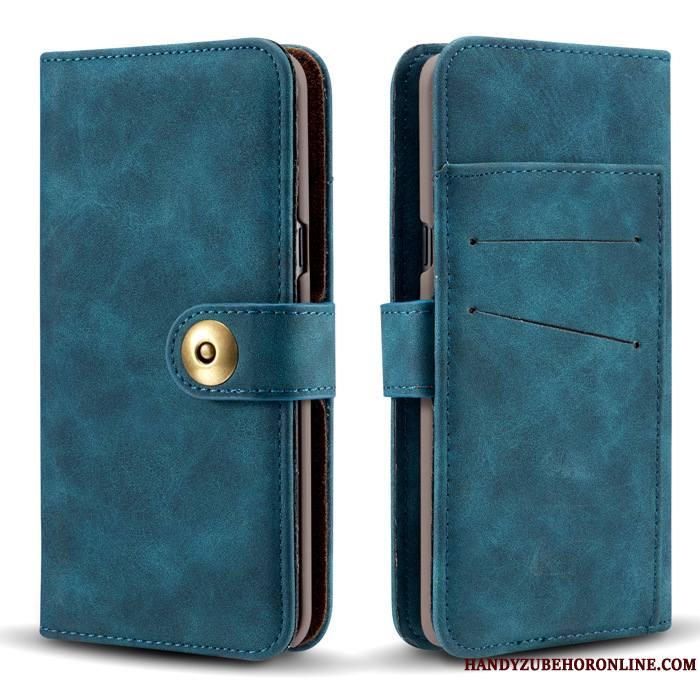 Samsung Galaxy Note 10 Étoile Housse Coque De Téléphone Étui En Cuir Bleu