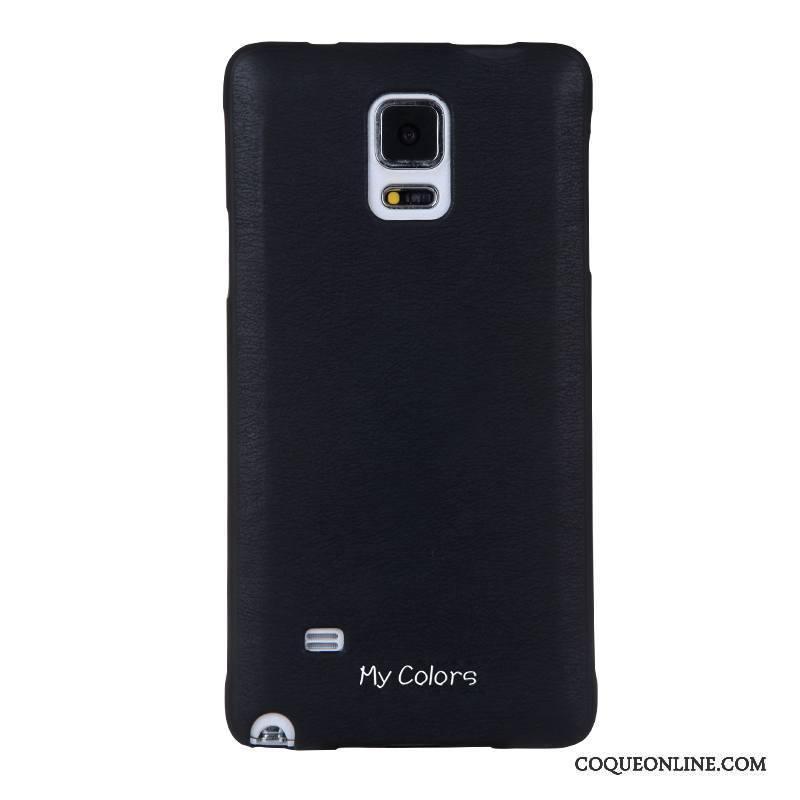 Samsung Galaxy Note 4 Business Fluide Doux Étui Coque De Téléphone Étoile Protection Noir