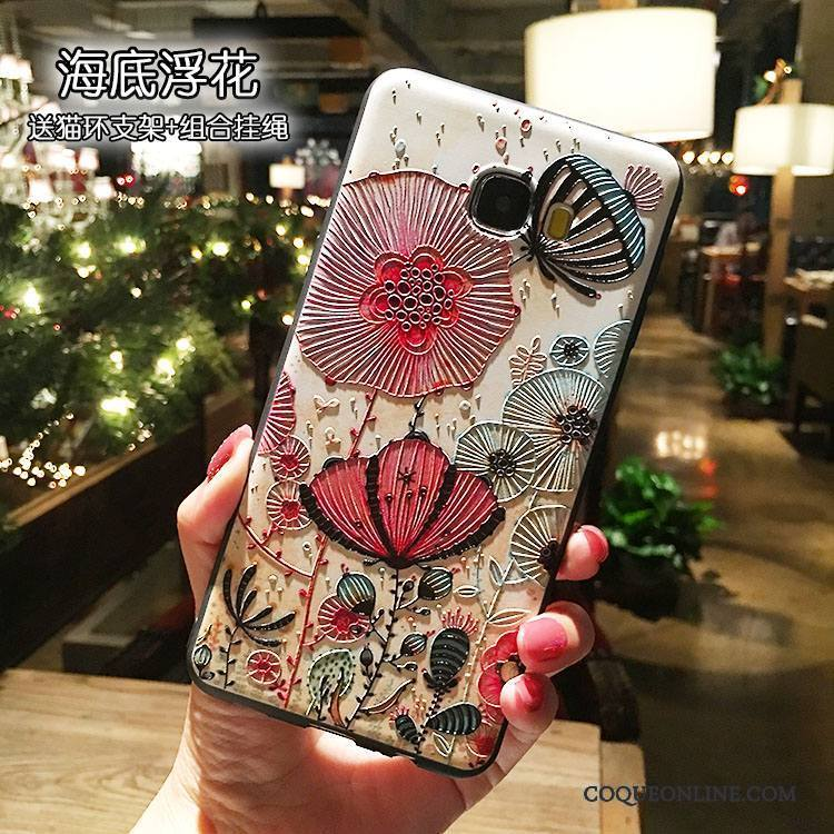 Samsung Galaxy Note 5 Anneau Support Tout Compris Étoile Incassable Coque De Téléphone Silicone
