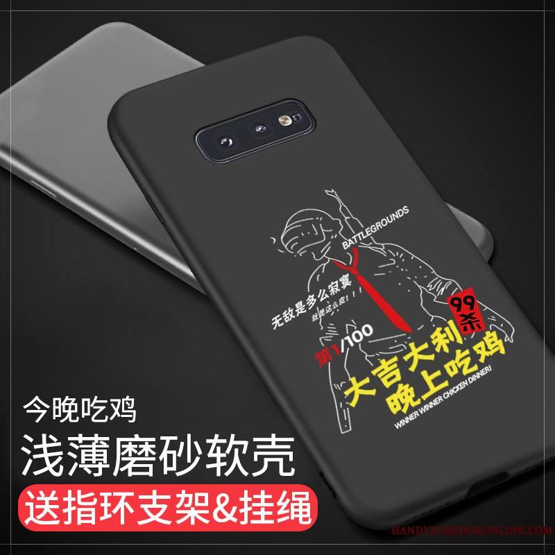 Samsung Galaxy S10e Coque Tout Compris Étoile Protection Délavé En Daim Étui Personnalité Incassable