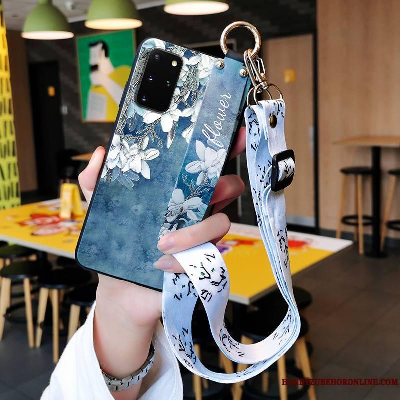 Samsung Galaxy S20+ Fluide Doux Silicone Incassable Créatif Coque De Téléphone Protection Net Rouge