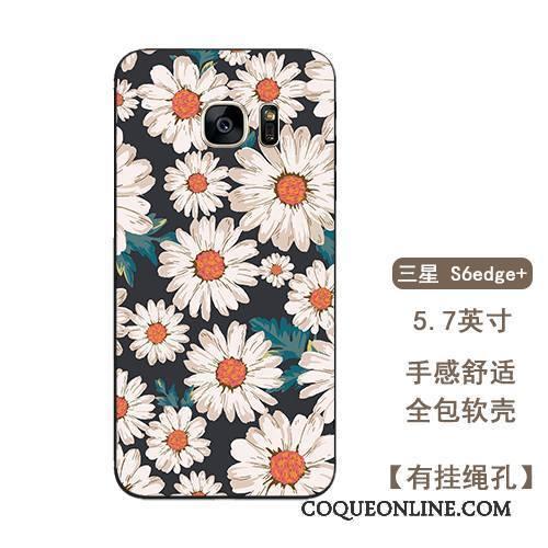 coque samsung s6 edge silicone fleur