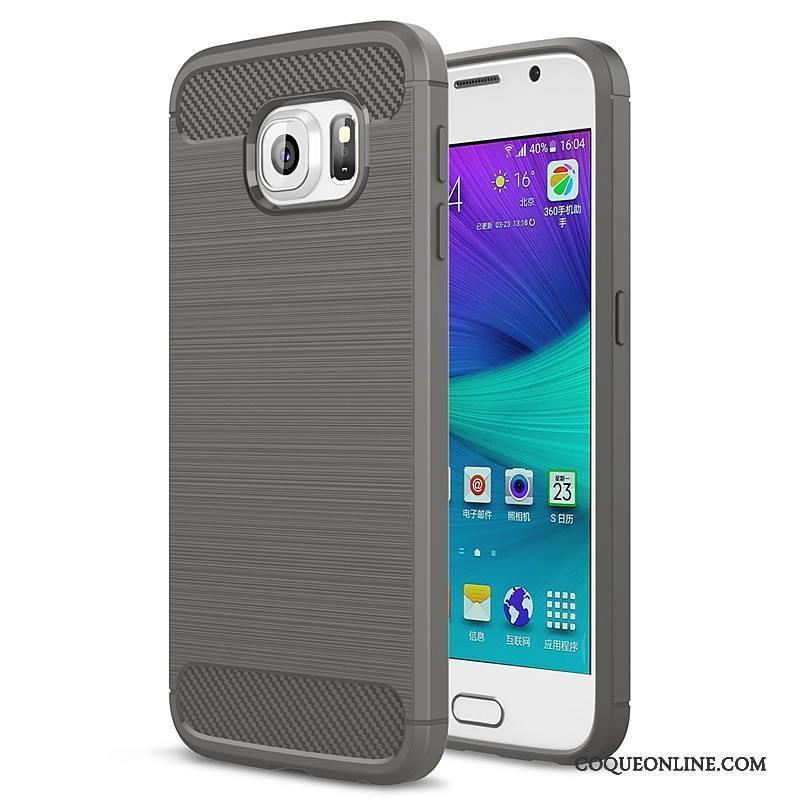 Samsung Galaxy S6 Edge Silicone Tout Compris Téléphone Portable Protection Étoile Fluide Doux Coque