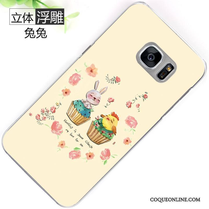 Samsung Galaxy S7 Peinture Téléphone Portable Incassable Jaune Protection Coque Étui