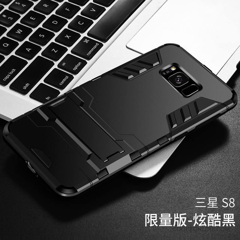 Samsung Galaxy S8 Coque Étui Border Transparent Couvercle Arrière Tout Compris Protection Gris