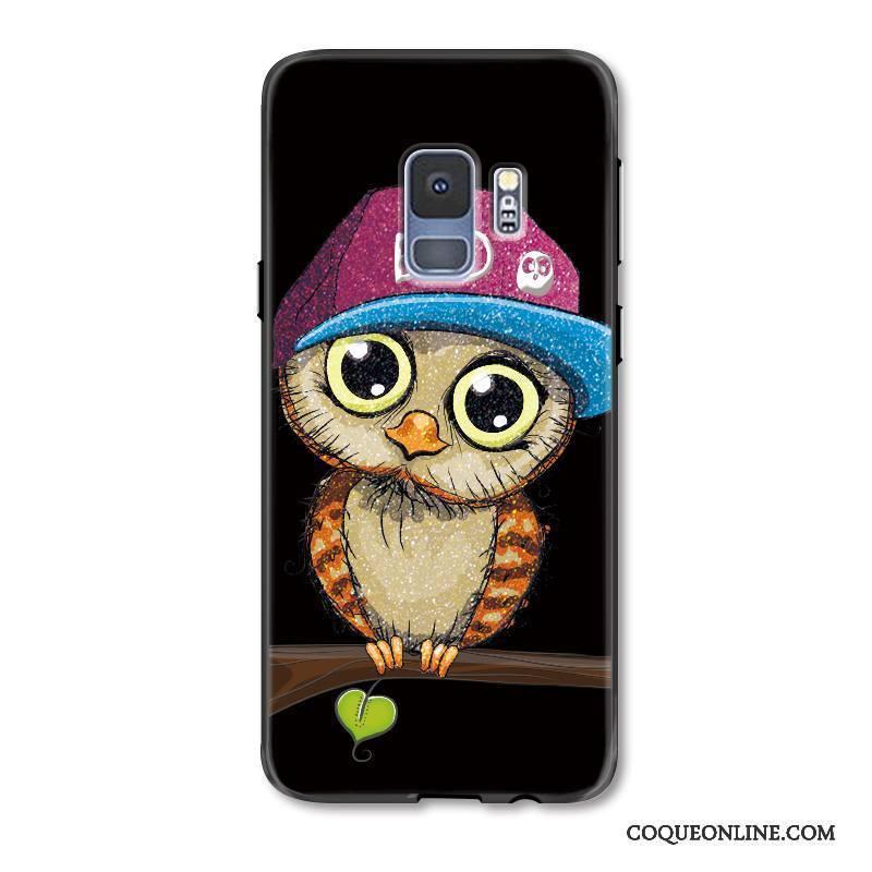 Samsung Galaxy S9+ Coque Protection Chat Étui Tendance Noir Incassable Charmant