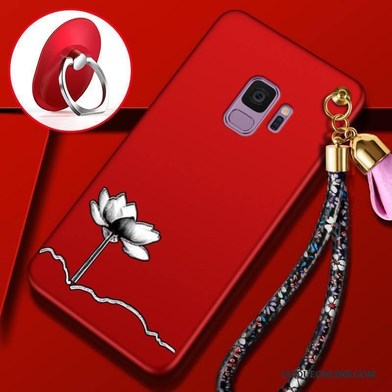 Samsung Galaxy S9 Incassable Rouge Tout Compris Étui Fluide Doux Coque De Téléphone Étoile
