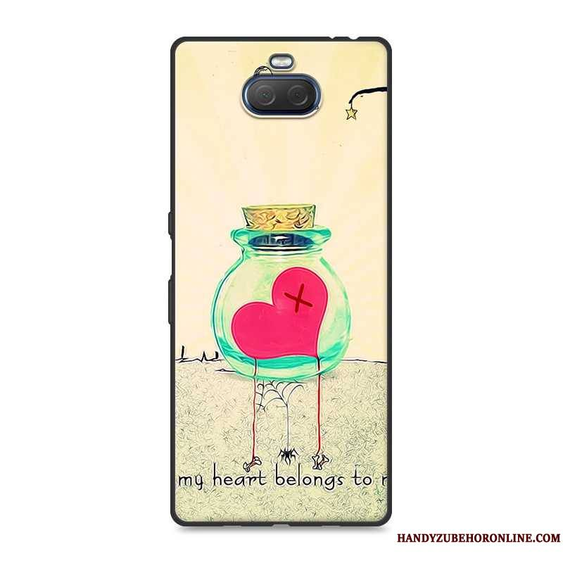 Sony Xperia 10 Plus Jaune Fluide Doux Tendance Coque Personnalité Incassable Tout Compris