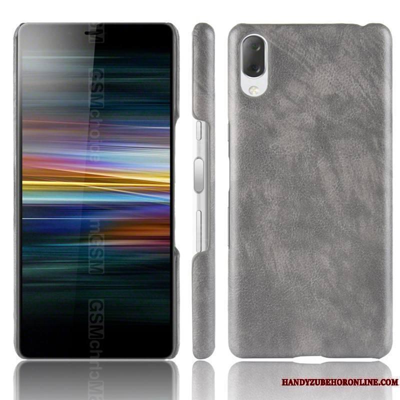 Sony Xperia L3 Cuir Délavé En Daim Coque De Téléphone Incassable Sac Rouge Étui