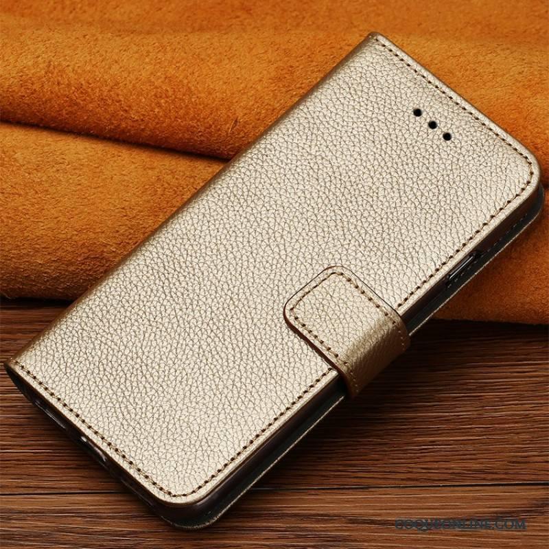 Sony Xperia T2 Coque De Téléphone Clamshell Étui Protection Cuir Véritable Personnalité Or Rose