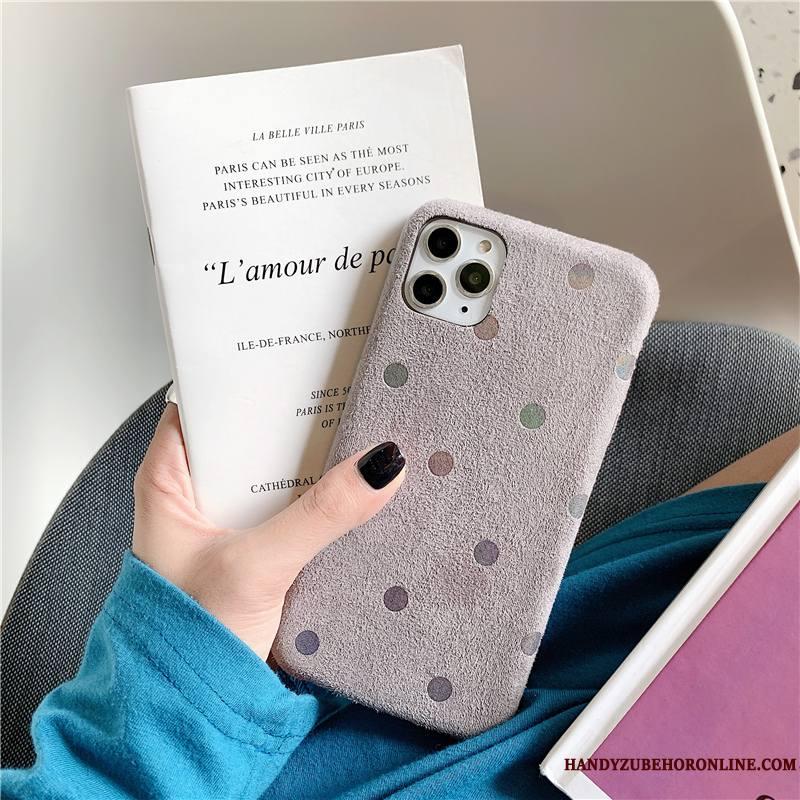 iPhone 11 Pro Max Jaune Protection Étui Nouveau Flanelle Vintage Coque De Téléphone