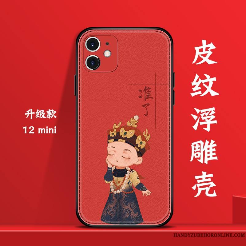 iPhone 12 Mini Créatif Nouveau Coque De Téléphone Vent Net Rouge Personnalité Tendance
