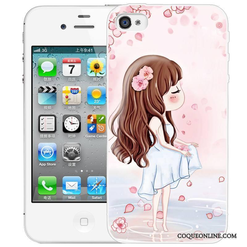 iPhone 4/4s Peinture Coque Gaufrage De Téléphone Étui Dessin Animé Protection