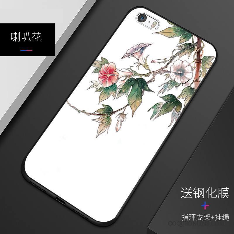 iPhone 5/5s Coque Incassable Tout Compris Personnalisé Protection Fluide Doux Délavé En Daim Étui