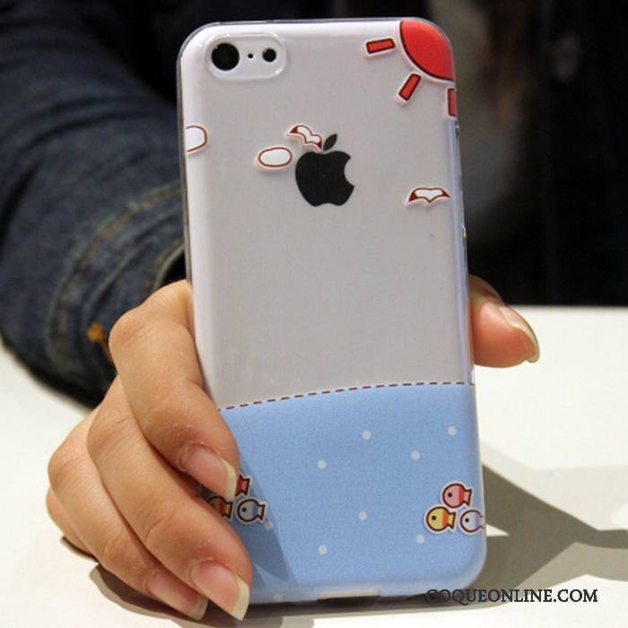 iPhone 5c Fluide Doux Dessin Animé Coque De Téléphone Silicone Tendance Incassable Étui