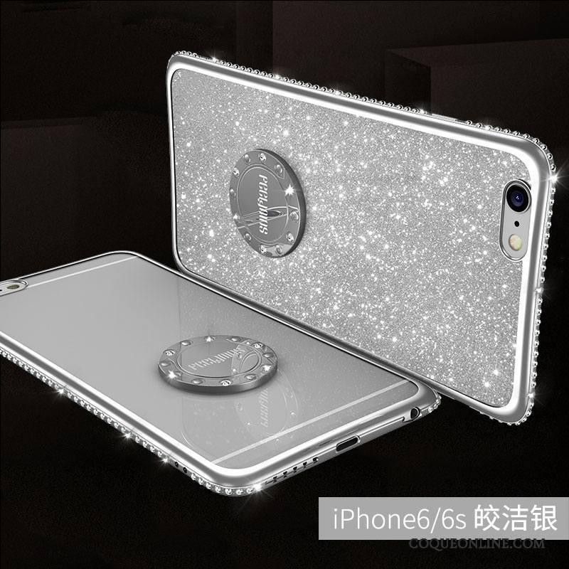 iPhone 6/6s Coque De Téléphone Incassable Rouge Or Anneau Étui Tendance