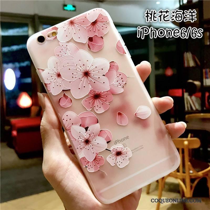 iPhone 6/6s Coque Tout Compris Marque De Tendance Nouveau Étui Gaufrage Silicone Fluide Doux