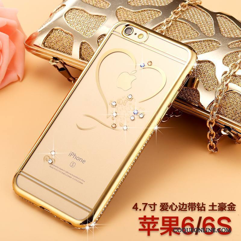 iPhone 6/6s Nouveau Luxe Marque De Tendance Tout Compris Incassable Coque De Téléphone Strass
