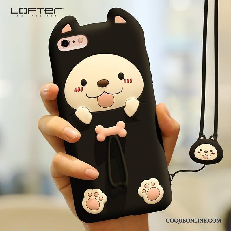 iPhone 6/6s Plus Charmant Incassable Silicone Coque De Téléphone Ornements Suspendus Rouge Créatif