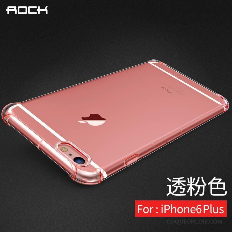 iPhone 6/6s Plus Coque Étui Nouveau Tout Compris Silicone Rose Très Mince Tendance