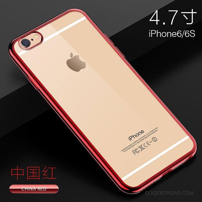 iPhone 6/6s Silicone Étui Incassable Transparent Tout Compris Coque De Téléphone Or Rose