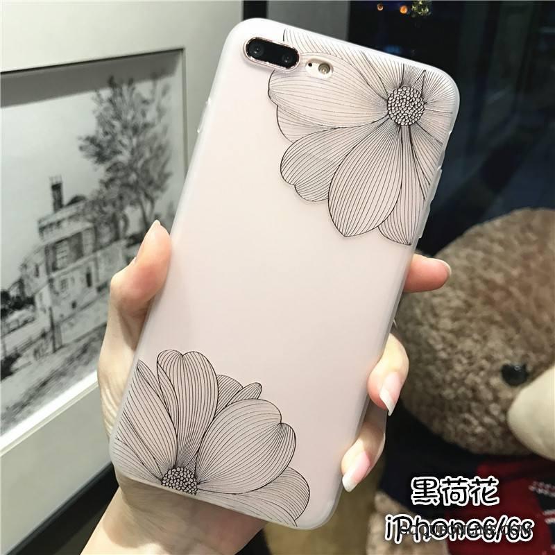 iPhone 6/6s Silicone Simple Nouveau Tendance Coque De Téléphone Délavé En Daim Rose