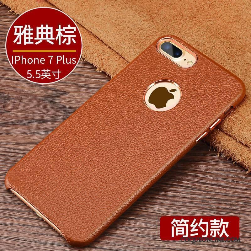 iPhone 7 Plus Étui En Cuir Nouveau Coque De Téléphone Business Tout Compris Protection Luxe