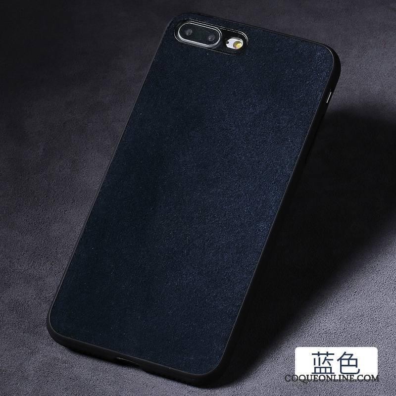 iPhone 7 Plus Personnalité Coque De Téléphone Vin Rouge Tout Compris Créatif Incassable Daim Fourrure