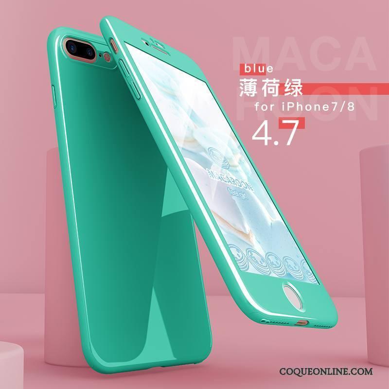 iPhone 8 Étui Tendance Vert Coque Nouveau De Téléphone Protection