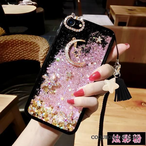 iPhone 8 Coque De Téléphone Tout Compris Quicksand Ornements Suspendus Étoile Cou Suspendu Mois