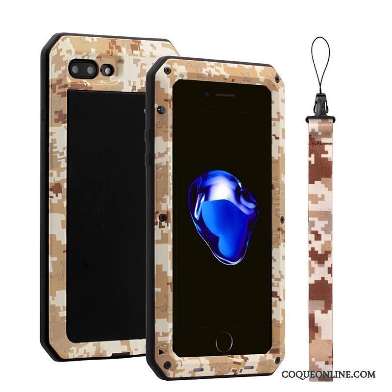 iPhone 8 Créatif Tout Compris Coque Métal Étui De Téléphone Trois Défenses