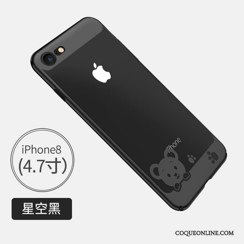 iPhone 8 Personnalité Créatif Coque De Téléphone Or Incassable Très Mince Fluide Doux