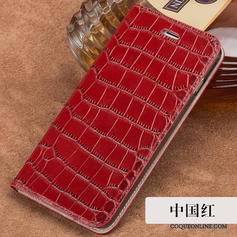 iPhone 8 Plus Coque Étui En Cuir Silicone Nouveau Rouge Housse Tout Compris Élégant