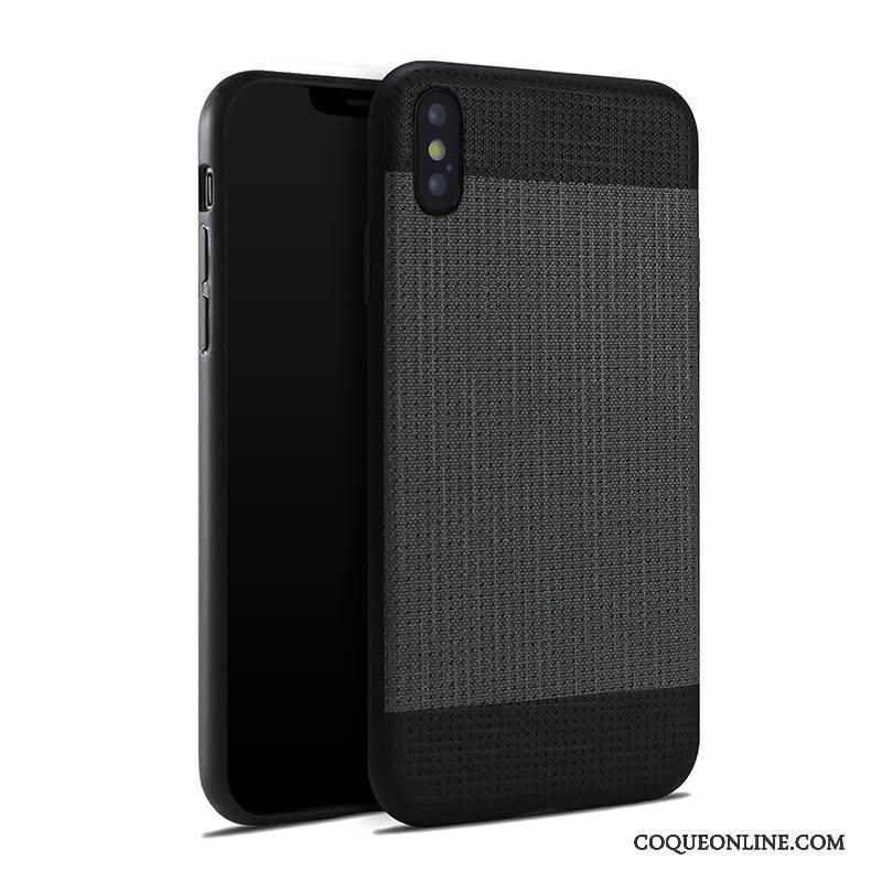 iPhone 8 Plus Coque Incassable Étui Tout Compris Noir Tendance Silicone Protection