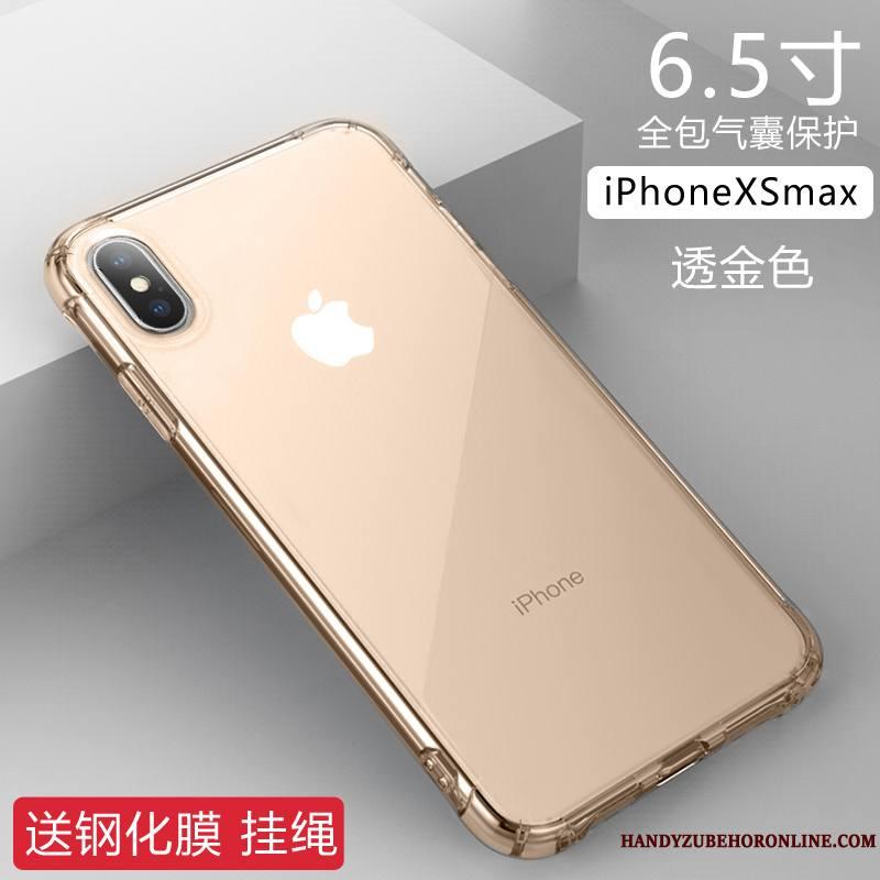 iPhone Xs Max Or Rose Incassable Protection Étui Transparent Tendance Coque De Téléphone
