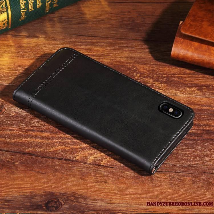 iPhone Xs Nouveau Cuir Véritable Étui Coque De Téléphone Protection Housse Fluide Doux