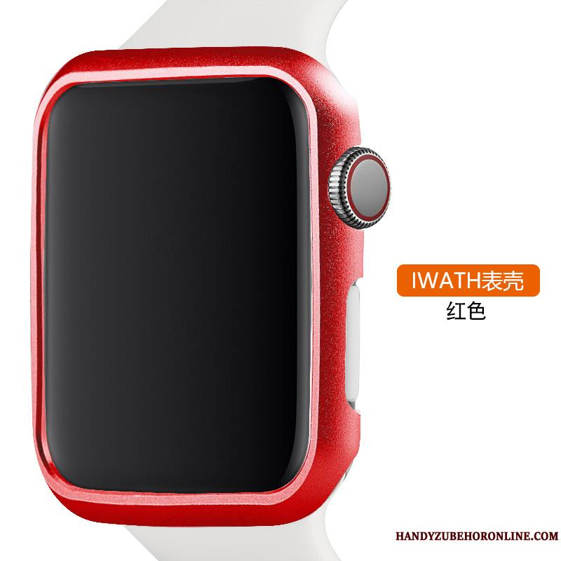 Apple Watch Series 2 Protection Métal Tendance Alliage Coque Rouge