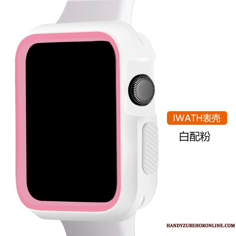 Apple Watch Series 2 Silicone Sport Coque Protection Blanc Tout Compris Rose