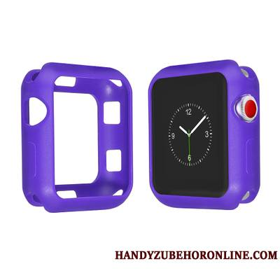 Apple Watch Series 2 Violet Coque Étui Silicone Multicolore Protection Tout Compris