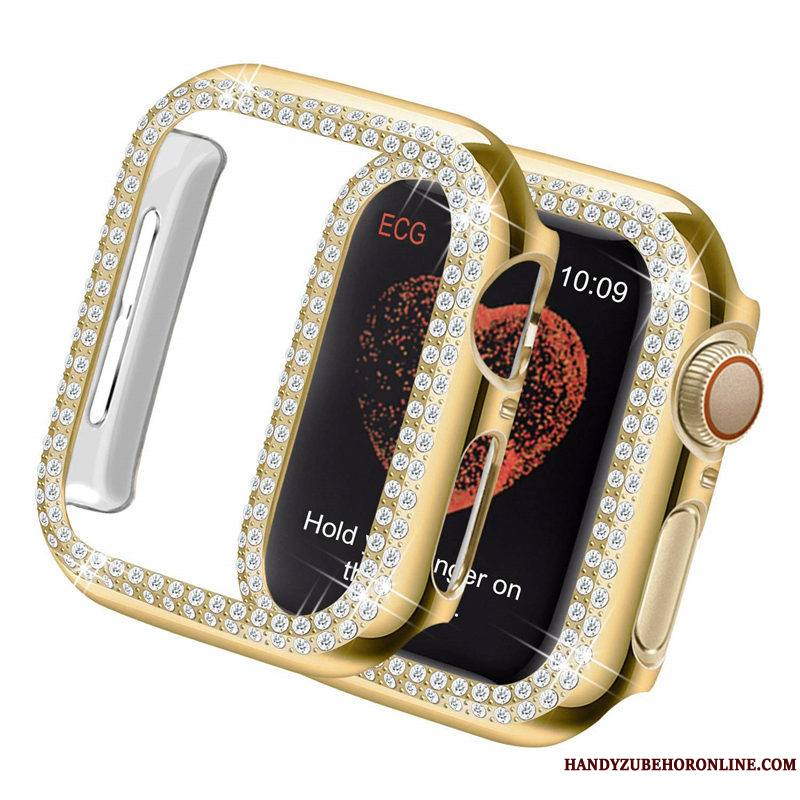 Apple Watch Series 3 Coque Incruster Strass Protection Difficile Légères Placage Tendance Or